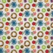 Christmas Memories- Fabric Flower Paper