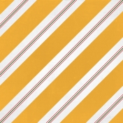 Christmas Memories- Yellow Large Stripe Paper