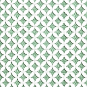 Quilted With Love- Vintage Green Cathedral Window Paper