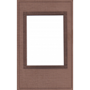 Quilted With Love- Vintage Brown Frame
