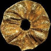 Christmas Memories Gold Glitter Ribbon Flower