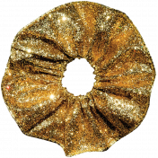 Christmas Memories Gold Glitter Ribbon Flower