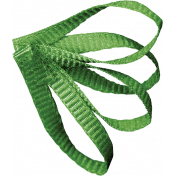 Christmas Memories Ribbon Leaf- Green