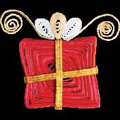 Christmas Memories Paper Art Present