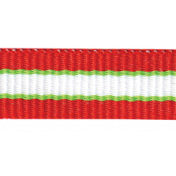 Christmas Memories Striped Ribbon- Red & Green