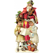Christmas Memories Santa Cutout