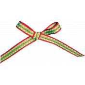Christmas Memories Striped Bow- Red & Green