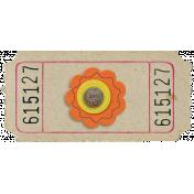 Orange Flower Ticket