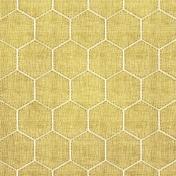 Quilted Mustard Hexagon Paper