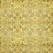 Mustard Floral Fabric Paper