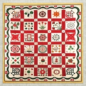 Antique Quilt Paper 01