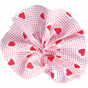 Red Fabric Flower 02