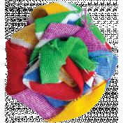 Rainbow Fabric Rosette
