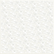 Be Mine Mini Patterned Paper Cutout Hearts- Cream