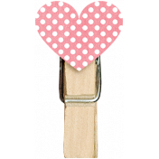 Be Mine Mini Pink Heart Clothespin