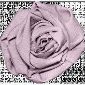 Be Mine Mini Fabric Flower- Purple