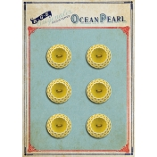 Quilted With Love- Vintage Yellow Button Card