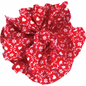 Red Fabric Flower 01