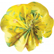 Yellow Fabric Flower 01