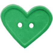 Quilted With Love- Green Heart Button