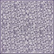 Purple Flower Cutout Paper