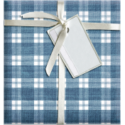 Quilted With Love- Modern- Blue Plaid Fat Quarter