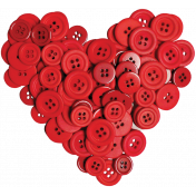 Quilted With Love- Modern- Button Heart
