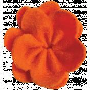 Orange Felt Flower 01