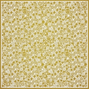 Mustard Flower Cutout Paper