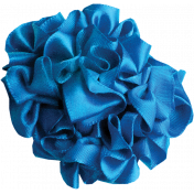 Blue Ribbon Flower