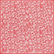 Red Flower Cutout Paper