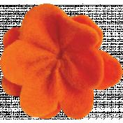 Orange Felt Flower 02