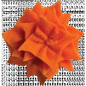 Orange Felt Flower 03