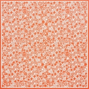 Orange Flower Cutout Paper