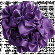 Purple Ribbon Flower