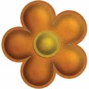 Quilted With Love- Modern- Orange Stitched Felt Flower