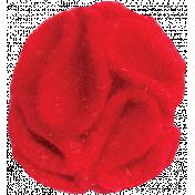 Red Felt Flower 01