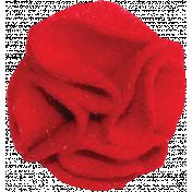 Red Felt Flower 02