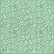 Green Flower Cutout Paper