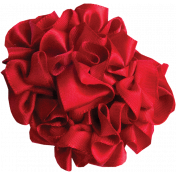 Red Ribbon Flower