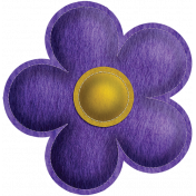 Quilted With Love- Modern- Purple Stitched Felt Flower