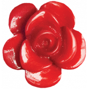 Quilted With Love- Modern- Red Rose Button