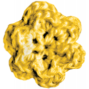 Quilted With Love- Modern- Yellow Crochet Flower
