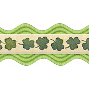The Lucky One - Green Ric Rac Ribbon