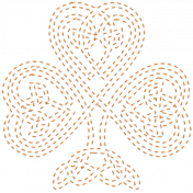 The Lucky One- Orange Celtic Clover Stitching