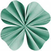 The Lucky One- Shamrock Accordion Flower 5