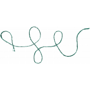The Lucky One- Teal Curly Twine