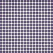 Quilted With Love- Modern Purple Gingham Paper