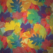 Quilted With Love- Modern Quilted Leaves Paper