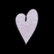 Earth Day- Lavendar Cardstock Heart